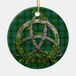 Celtic Trinity Knot And Clan Henderson Tartan Ceramic Ornament