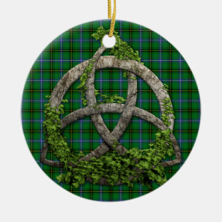 Celtic Trinity Knot And Clan Henderson Tartan Ceramic Ornament