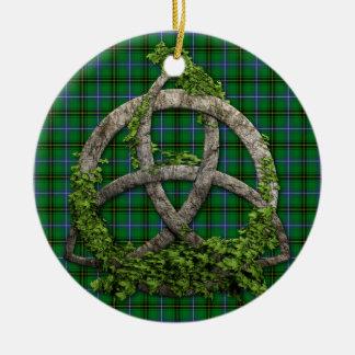 Celtic Trinity Knot And Clan Henderson Tartan Ornament