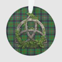 Celtic Trinity Knot And Clan Kennedy Tartan