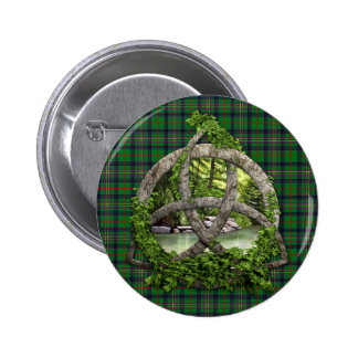 Celtic Trinity Knot And Clan Kennedy Tartan Pinback Button