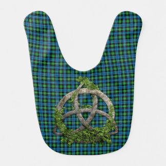 Celtic Trinity Knot And Clan Lamont Tartan Bib