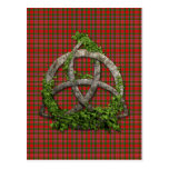 Celtic Trinity Knot And Clan MacAlister Tartan Postcard