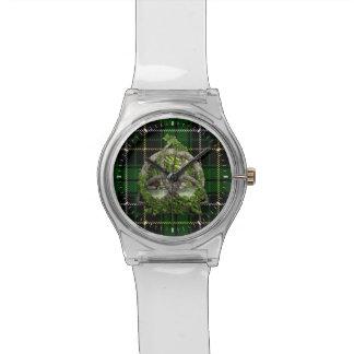 Celtic Trinity Knot And Clan MacAlpine Tartan Wrist Watch