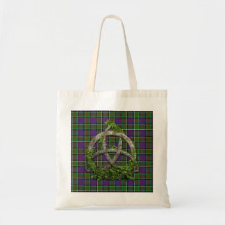 Celtic Trinity Knot And Clan MacDonald Of Ranald Tote Bag