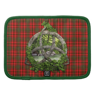 Celtic Trinity Knot And Clan MacDougall Tartan Folio Planners