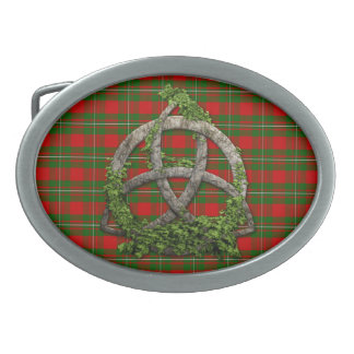 Celtic Trinity Knot And Clan MacGregor Tartan Belt Buckle