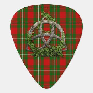 Celtic Trinity Knot And Clan MacGregor Tartan Guitar Pick