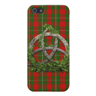 Celtic Trinity Knot And Clan MacGregor Tartan iPhone SE/5/5s Case