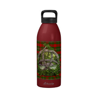 Celtic Trinity Knot And Clan MacGregor Tartan Water Bottle