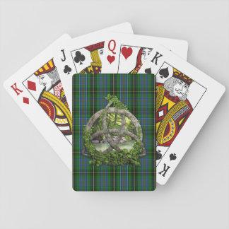 Celtic Trinity Knot And Clan MacInnes Tartan Playing Cards