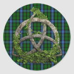 Celtic Trinity Knot And Clan MacIntyre Tartan Sticker