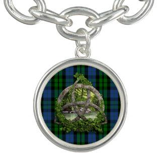 Celtic Trinity Knot And Clan MacKay Tartan Charm Bracelet