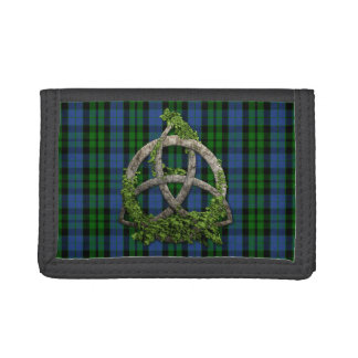 Celtic Trinity Knot And Clan MacKay Tartan Trifold Wallet