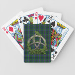 Celtic Trinity Knot And Clan MacKenzie Tartan Bicycle Playing Cards