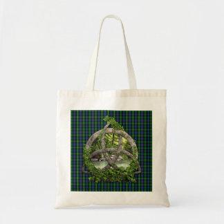 Celtic Trinity Knot And Clan MacKenzie Tartan Budget Tote Bag