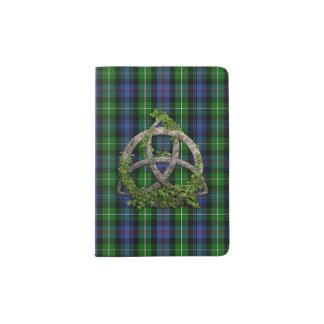 Celtic Trinity Knot And Clan MacKenzie Tartan Passport Holder