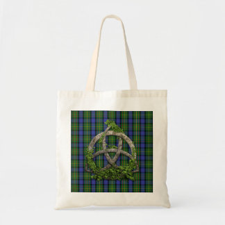 Celtic Trinity Knot And Clan MacLaren Tartan Tote Bag