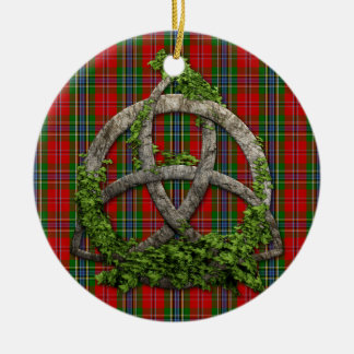 Celtic Trinity Knot And Clan MacLean Of Duart Ceramic Ornament
