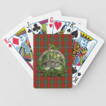 Celtic Trinity Knot And Clan MacLean Of Duart Tart Bicycle Playing Cards