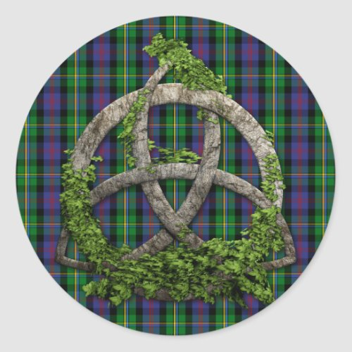 Celtic Trinity Knot And Clan Malcolm Tartan