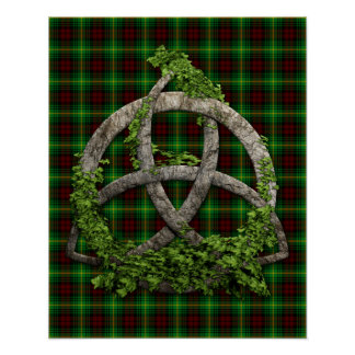 Celtic Trinity Knot And Clan Martin Tartan Poster