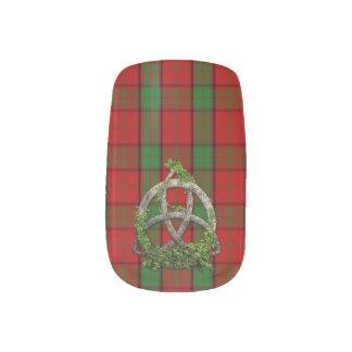 Celtic Trinity Knot And Clan Maxwell Tartan Minx Nail Wraps