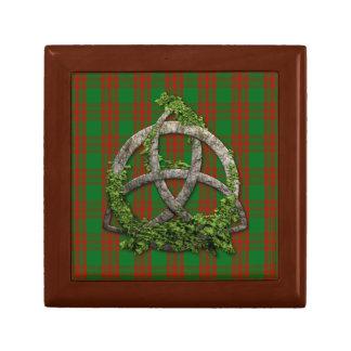 Celtic Trinity Knot And Clan Menzies Tartan Keepsake Box