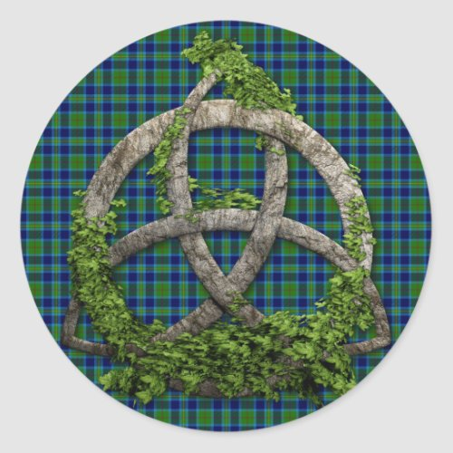 Celtic Trinity Knot And Clan Miller Tartan