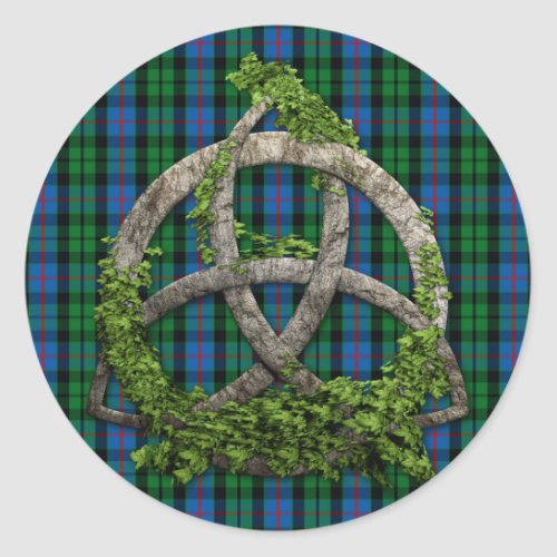 Celtic Trinity Knot And Clan Morrison Tartan