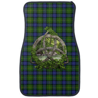 Celtic Trinity Knot And Clan Muir Tartan Car Floor Mat