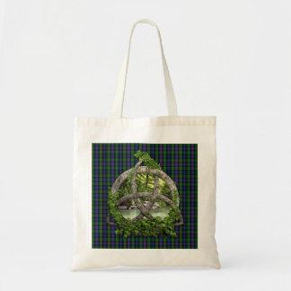 Celtic Trinity Knot And Clan Murray Tartan Tote Bag