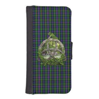 Celtic Trinity Knot And Clan Murray Tartan Wallet Phone Case For iPhone SE/5/5s