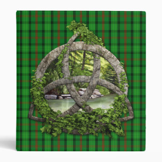Celtic Trinity Knot And Clan Ross Tartan Binder