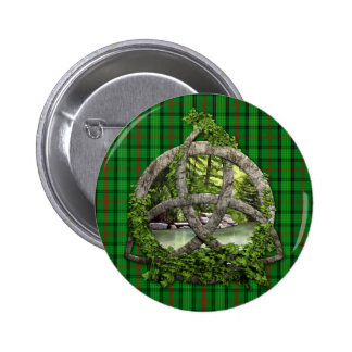 Celtic Trinity Knot And Clan Ross Tartan Pinback Button