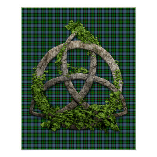 Celtic Trinity Knot And Clan Smith Tartan Poster