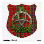 Celtic Trinity Knot And Clan Stewart Tartan Wall Decals