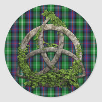 Celtic Trinity Knot And Clan Sutherland Tartan