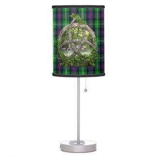 Celtic Trinity Knot And Clan Sutherland Tartan Desk Lamp