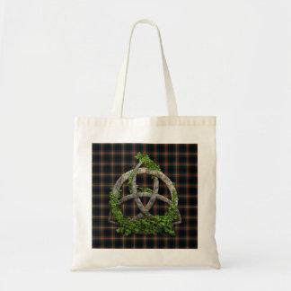 Celtic Trinity Knot And Clan Watt Tartan Tote Bag