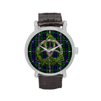 Celtic Trinity Knot And Scottish National Tartan Wrist Watches