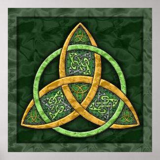 Celtic Trinity Knot Art Print print