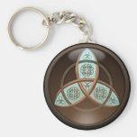 Celtic Trinity Knot Basic Round Button Keychain