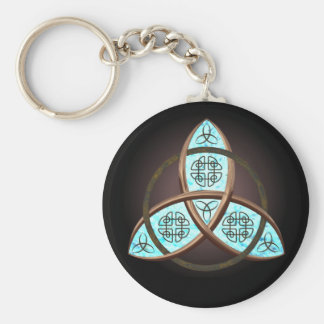 Celtic Trinity Knot Basic Round Button Keychain
