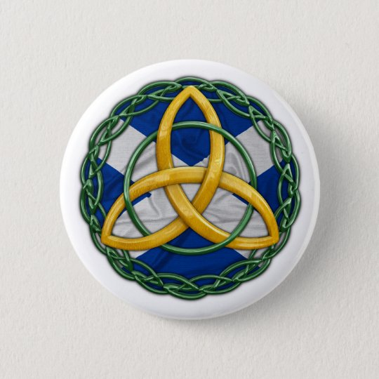 Celtic Trinity Knot Button