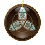 Celtic Trinity Knot Ceramic Ornament