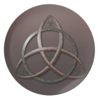 Celtic Trinity Knot Dinner Plate