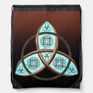 Celtic Trinity Knot Drawstring Backpack