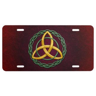 Celtic Trinity Knot License Plate