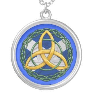 Celtic Trinity Knot Round Pendant Necklace